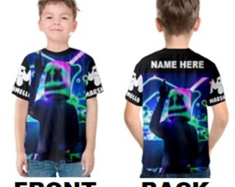 1cc72c5e Marshmello DJ Unisex Kid's Or Adult's Custom T-shirt - Kids 2, 3, 4, 5, 6,  7, 8, 10, 12, 14, 16, 18 - Adult XS,S,M,L,XL,2XL,3XL,4XL,5XL
