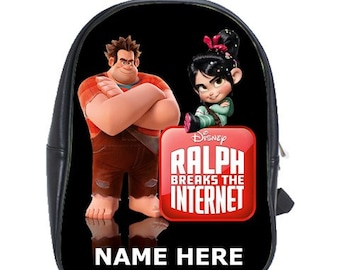 13f24826594 Wreck It Ralph 100% Genuine Leather Backpack - Choose Background Color -  Free Personalization