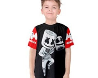 0c4633e70 Marshmello DJ Unisex Kid's Or Adult's Custom T-shirt - Kids 2, 3, 4, 5, 6,  7, 8, 10, 12, 14, 16, 18 - Adult XS,S,M,L,XL,2XL,3XL,4XL,5XL