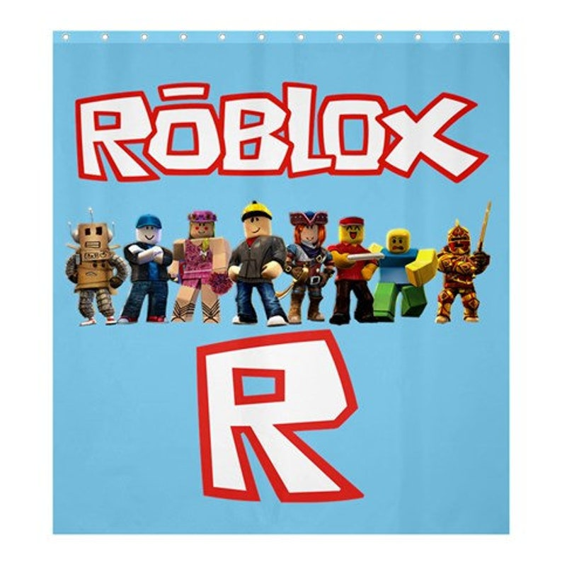 Roblox Shower Curtain Choose Size And Background Color Etsy - image 0