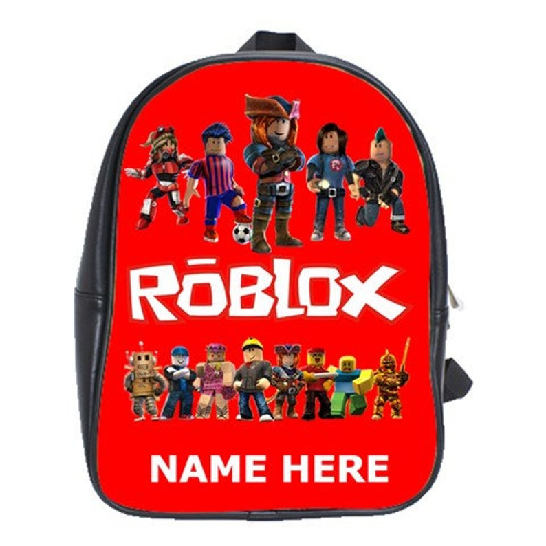 Roblox 100 Genuine Leather Backpack Choose Background Color Etsy - image 0