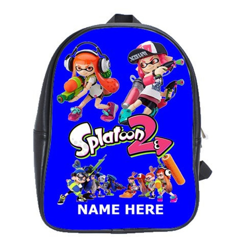6ff4f7afb691 Splatoon 100% Genuine Leather Backpack Choose Background