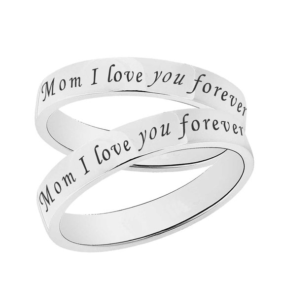 Personalize Custom Engrave 925 Sterling Silver Wedding Band Promise Ring Coordinates Ring 3mm Sterling Silver Wedding Band