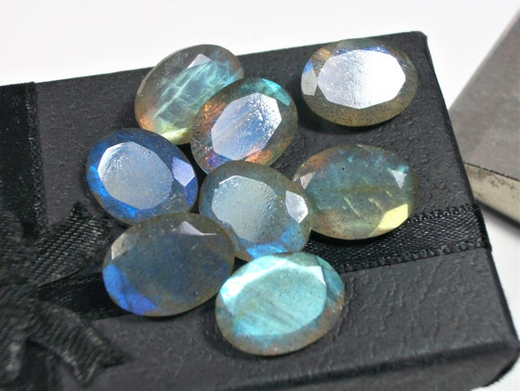 SALE! AMAZING Lot Natural LABRADORITE 6X6 mm Round Faceted Cut Loose Gemstone