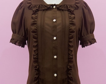 Custom size-  Sweet Classic Lolita Princess Chiffon Summer Blouse