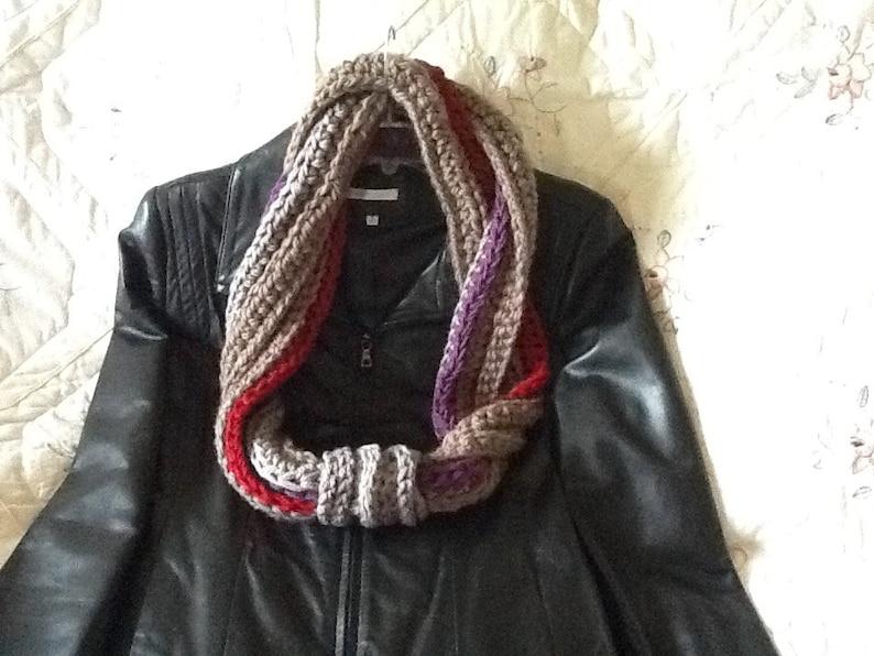 INSTANT DOWNLOAD. Crochet Pattern scarf 3 patterns