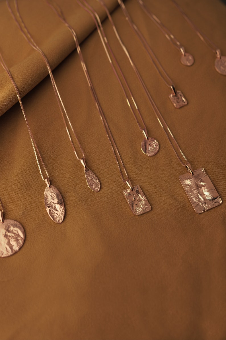 Rose gold jewelry set Rose gold layered necklace set Unique pendants Double necklace Rose gold plated necklace Best friend necklace for 2