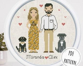 Custom family pet portrait gift for grandma Personalized cousin birthday gift Dog mom gift Cat lover gift