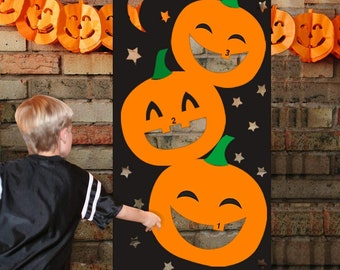 Astounding Pumpkin Bean Bags Etsy Onthecornerstone Fun Painted Chair Ideas Images Onthecornerstoneorg