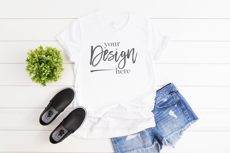 Instant Download Tee Jeans Clothing Mockups jpeg Shirt Digital Mockup White Gildan Mockup Flat Lay T-Shirt Mock Up TShirt jpg