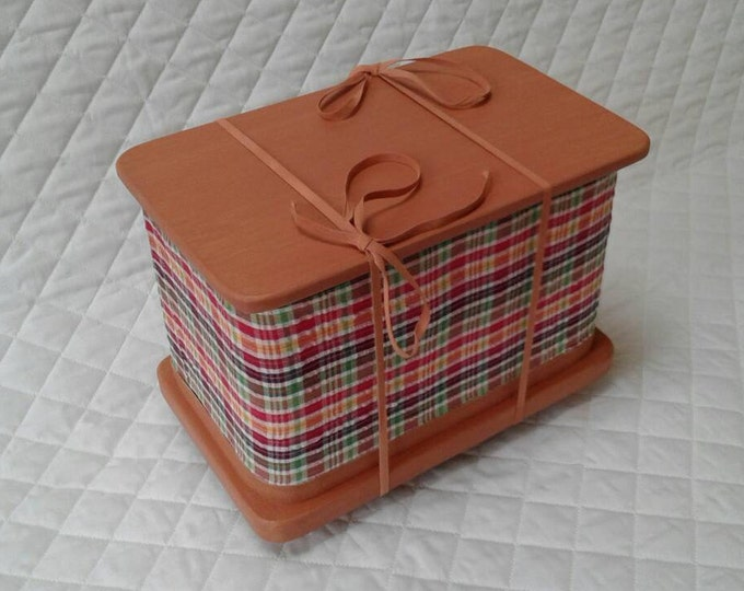 Copper Checks - Pet ash casket