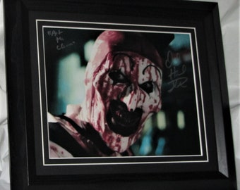 Authentic  David Howard  Thornton Art The Clown Terrifier  Hand matted and framed. A.F.T.A.L. Registered Dealer #199 Not Copy Or Print #LR4