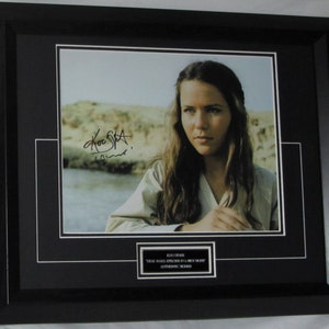 KATE BECKINSALE Signed  Authentic signed with signing details AFTAL Dealer #199 Not a copy or printed signature
