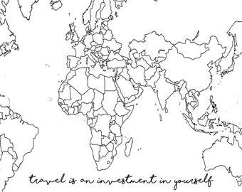world map vinyl etsy Haiti On World Map custom text world map vinyl sticker for journal planner diary