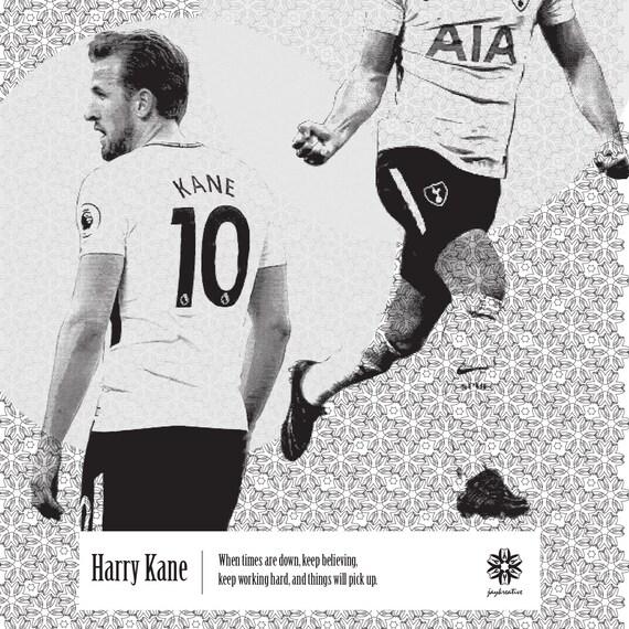 Harry Kane 2 Tottenham Hotspur F.C Football Player Poster Sport Star Photo Print
