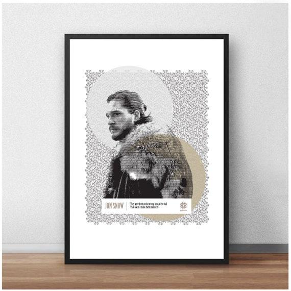 A4 A3 A2 A1 A0| Game Of Thrones Digital Art Poster Print T1174