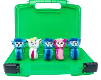 Not by Treasure X Created by LMB Compatible with Treasure X and Other Figures Life Made Better Portable Pink Toy Carrying Case /& Organizer