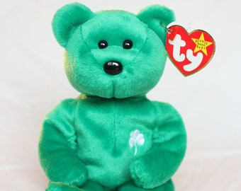 9a85ce78633 Beanie Babies Ty Rare Beanie Baby Erin the Irish Beanie Babies Bear Ty  Beanie Baby Bear Vintage Plush Stuffed Animal Teddy Toy Collector