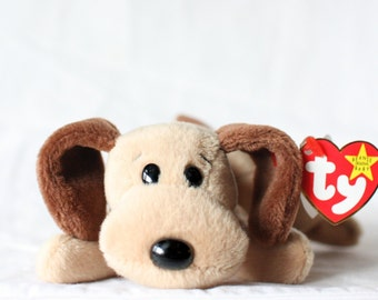 be7c0cb291f Bones Beanie Baby Dog Ty Beanie Babies Dog Beanie Babies Mint Ty Beanie Baby  Collector Gift Vintage Plush Toy Stuffed Animal Vintage Plush