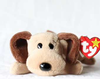 Bones Beanie Baby Dog Ty Beanie Babies Dog Beanie Babies Mint Ty Beanie  Baby Collector Gift Vintage Plush Toy Stuffed Animal Vintage Plush f3a66a70194a