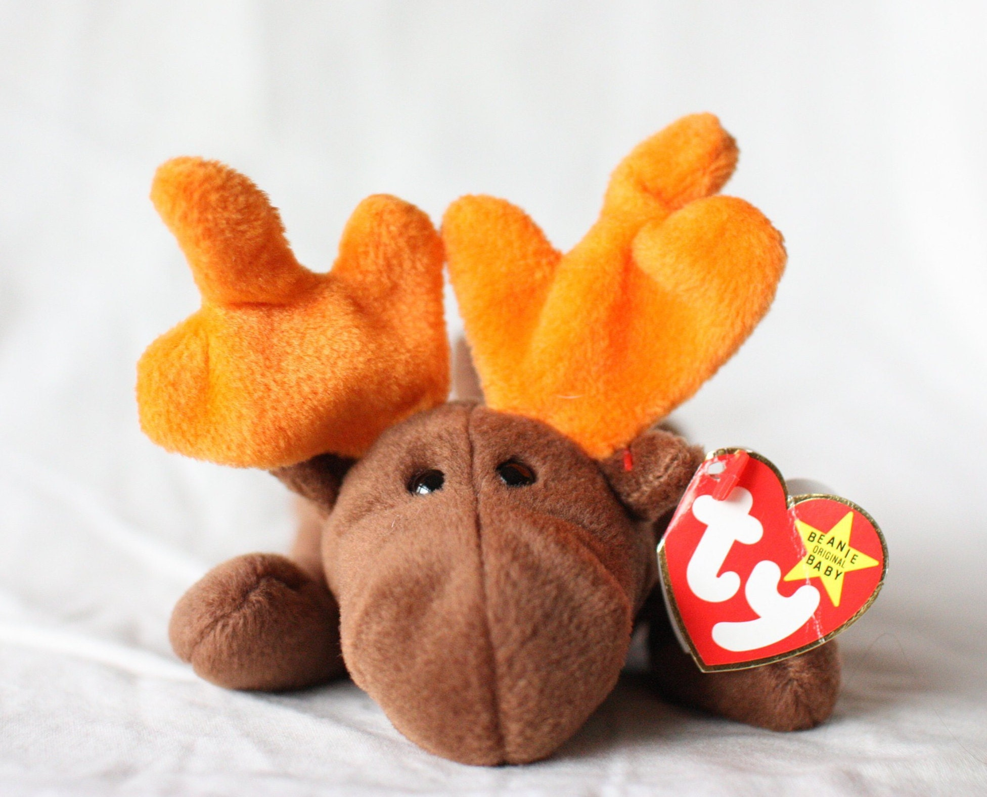 dc1a3323e06 Chocolate the Moose First Beanie Babies Rare Beanie Baby