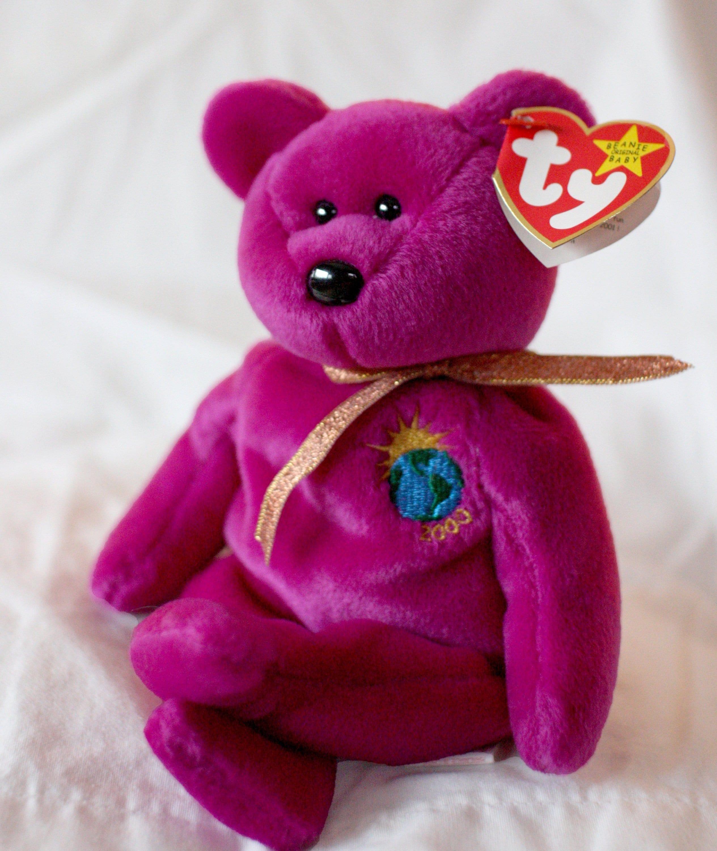 38a1935b885 Millennium Beanie Baby Millennium Rare Ty Beanie Baby Bear in