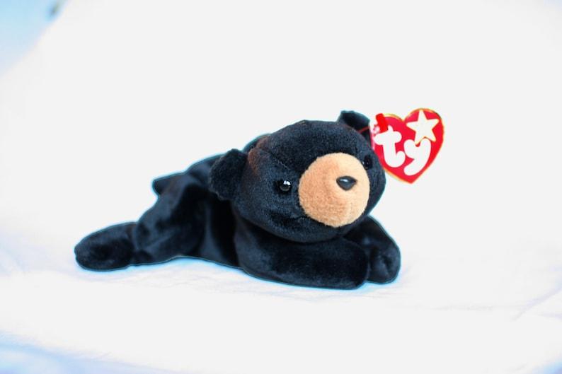 Blackie Beanie Baby Bear Ty Bear Rare Beanie Babies Original  c0db2788ddf