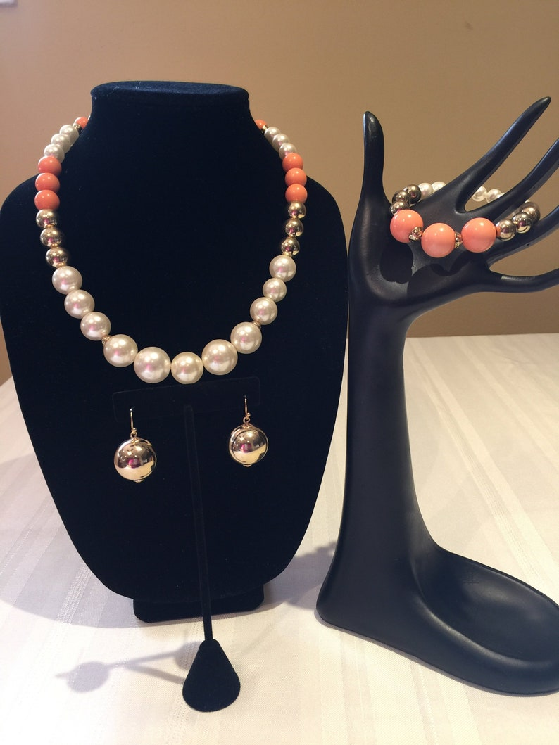 Pearl Necklace Set I am Wise Affirmation Jewelry