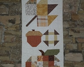 Fall Quilted Wall Hanging, Handmade, Autumn Sampler Wall Decor, Thanksgiving Hostess gift, One of a kind Thank you gift