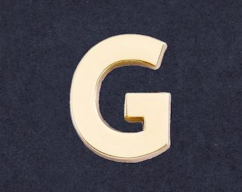 Dettagli su Spilla da giacca con iniziale B in ARGENTO 925 Pins lettera alfabeto