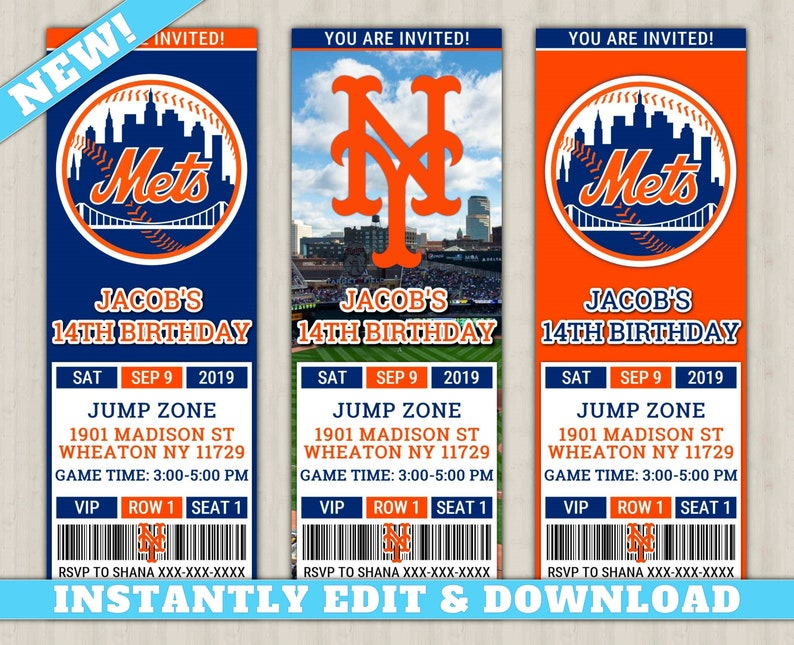 photo relating to Printable Mets Schedule identified as Contemporary York Mets Invitation Fresh, EDIT On your own, Printable Baseball Invite, Mets Editable Birthday Invitation, Mets Ticket Invite