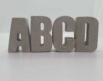 Letters Concrete A to Z Personalized Gift Decoration Concrete Decoration Home Decoration