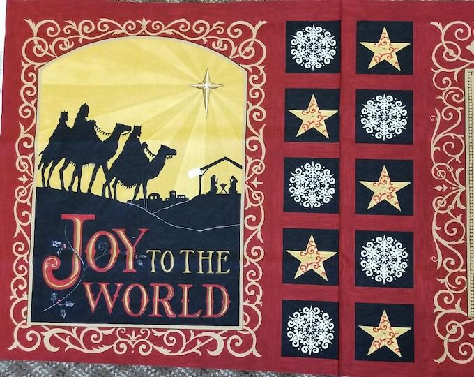Christmas Joy To The World Panel, Quilt Panel, Joy To The World, Rejoice,