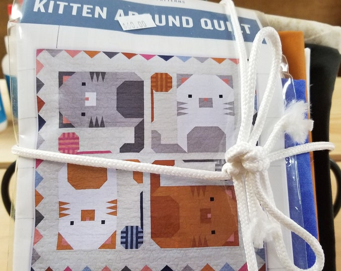Kitten Around Quilt Kit, Quilt Top Kit w/pattern