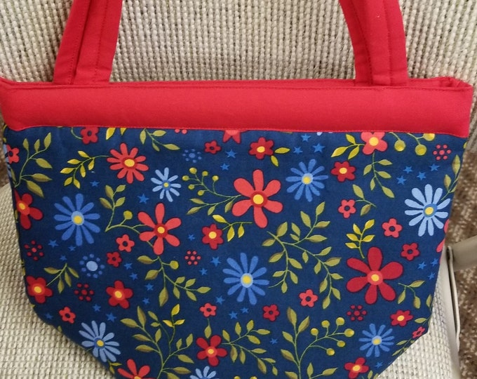 Flower Purse with Magnetic Closure, Purse, Flower Pattern Handbag