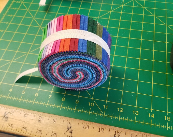 Marble Blender Jelly Roll, Colorful Marble Jelly Roll