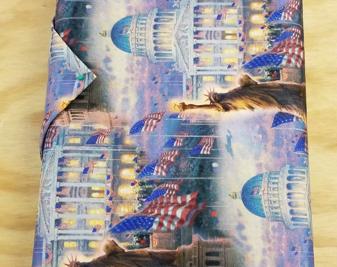Statue of Liberty Quilt Fabric, Thomas Kinkade fabric