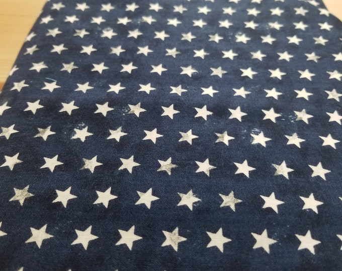Blue and White Star Quilt Fabric, Freedom Bound, Stars and Stripes fabric