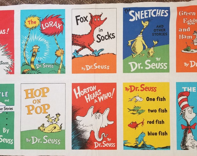 Dr. Seuss Fabric Panel, Dr. Seuss Childrens Books Panel