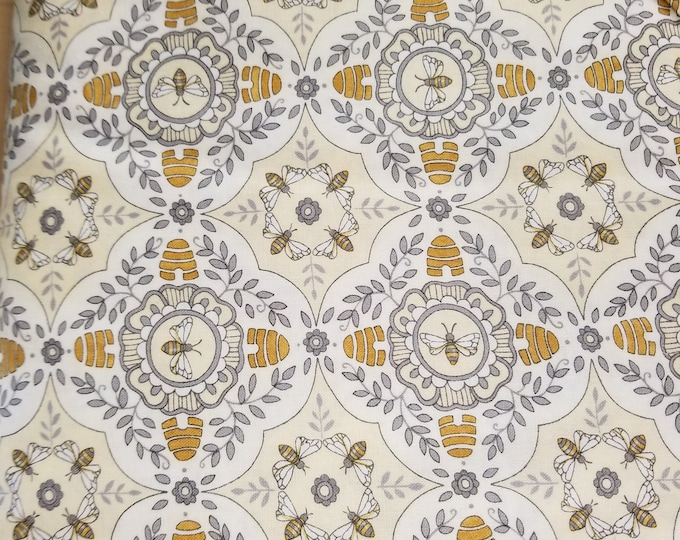 Bees & Hives Quilt Fabric, Honey Bee Hive Fabric