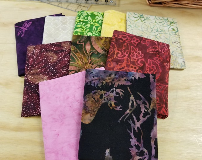 Batik Fat Quarter Bundle of Assorted Designs