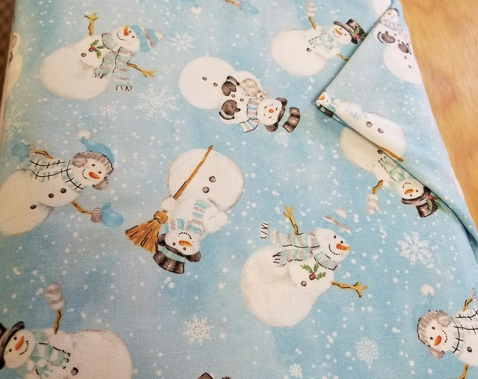 Christmas Snowman Quilt Fabric,  Wintertime Fabric