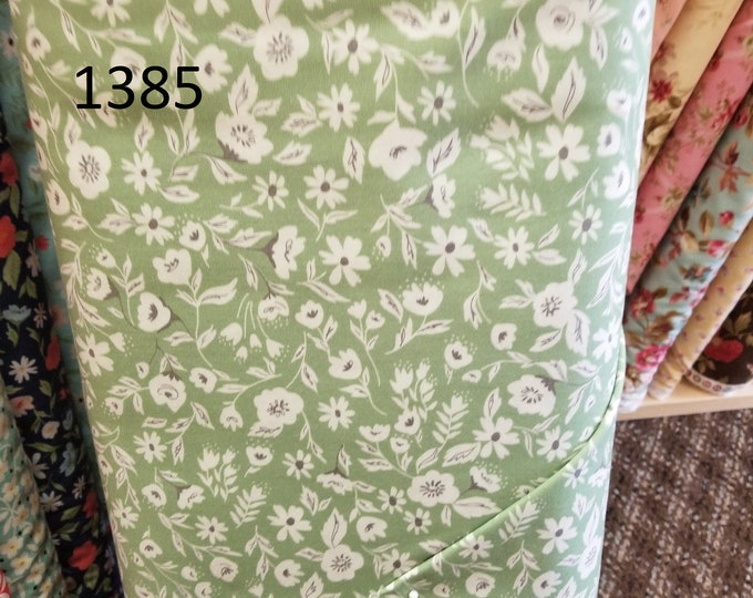 Floral Quilt Fabric, Cut to order fabric   1384-1403
