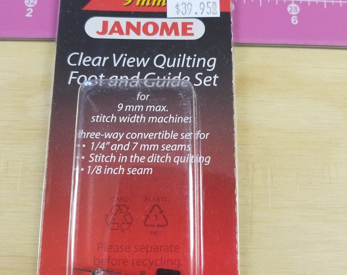 Janome Clear View Quilting Foot and Guide Set, #13