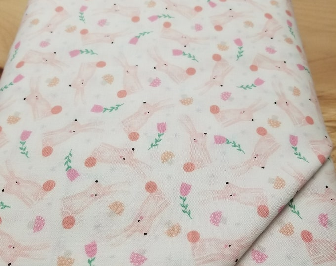 Baby Bunnies Quilt Fabric, Cute Rabbit Fabric
