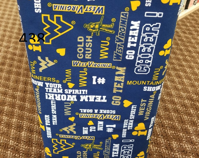WVU Fabric, WV Fabric, Cut to order fabric, West Virginia University 438-445