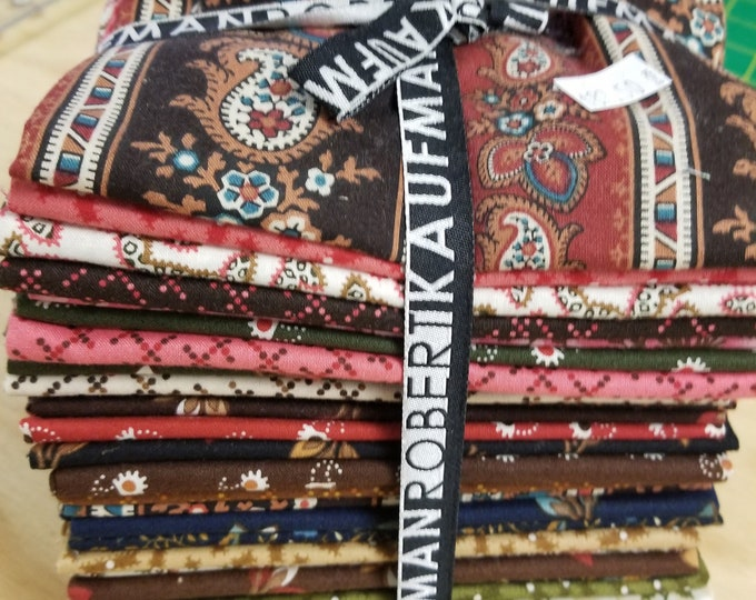 Fat Quarter Bundleof Assorted Fabrics, Robert Kaufman Fat Quarter Bundle