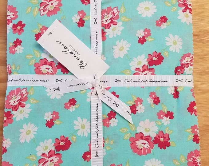 """Floral Boundless Layer Cake, 10"""" Cut Out for Happiness Pre-Cut Squares"""