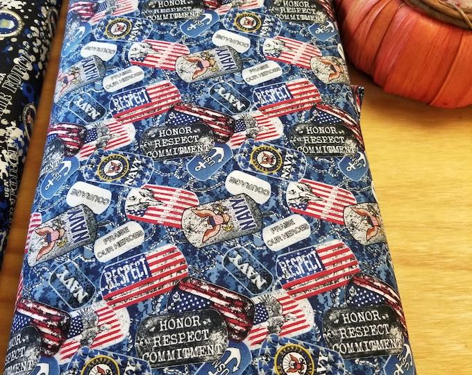 US Navy Fabric, US Military fabric, United States Navy