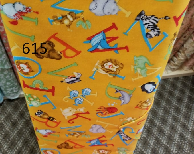 Kids Themed Novelty Quilt Fabric, Cut to order fabric, Animals, Farm, Zoo, Cars, Trains  615-627